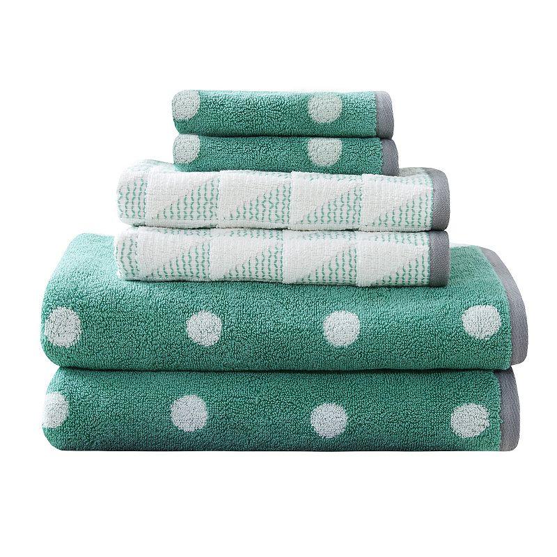 HipStyle 6-piece Kylee Jacquard Towel Set