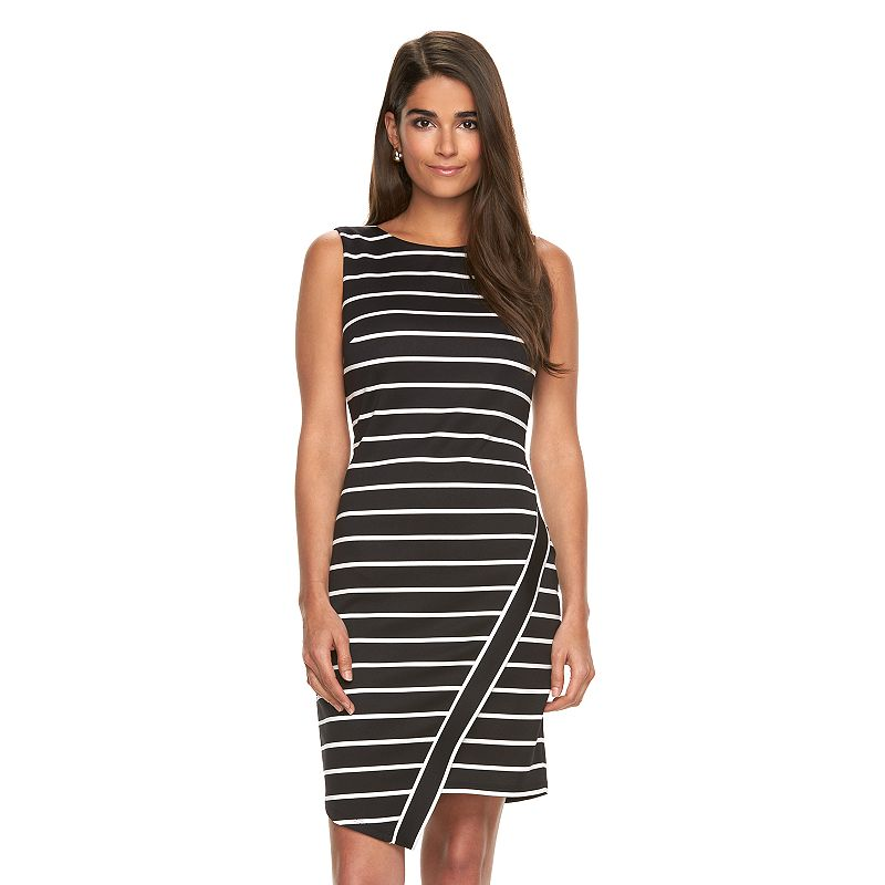 Women's Suite 7 Asymmetrical Striped Sheath Dress