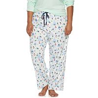 Plus Size Jockey Pajamas: Printed Pajama Pants