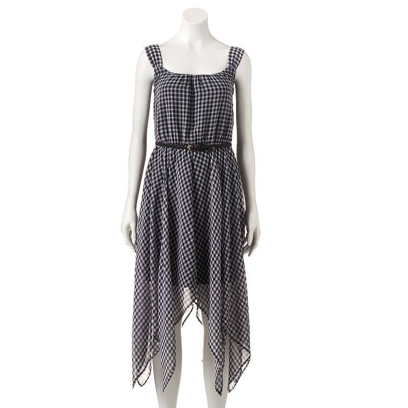 Women's Halo Print Handkerchief Hem Fit & Flare Dress