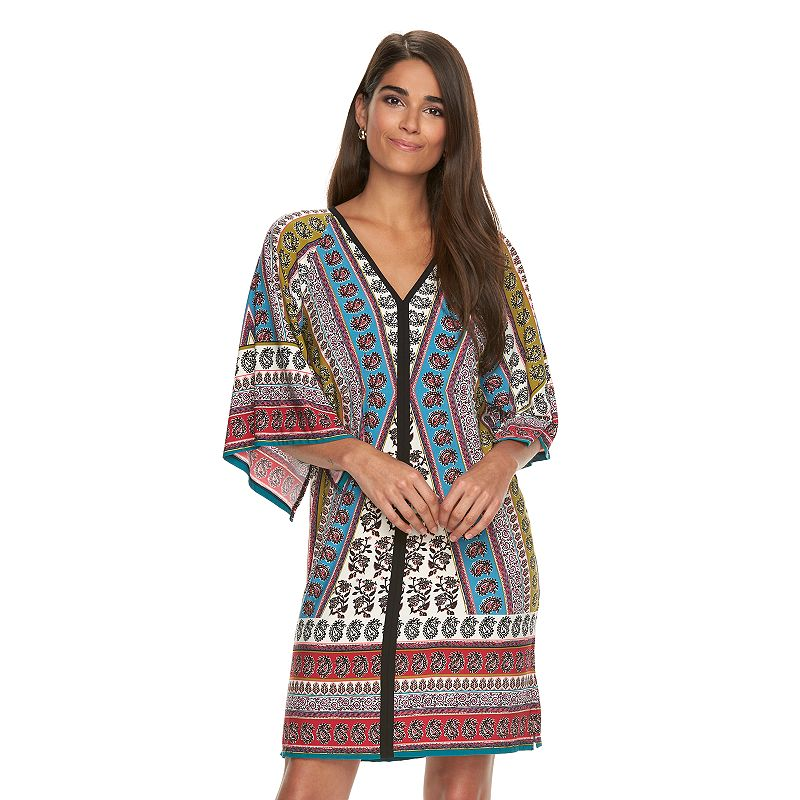 Women's Suite 7 Print Dolman Shift Dress