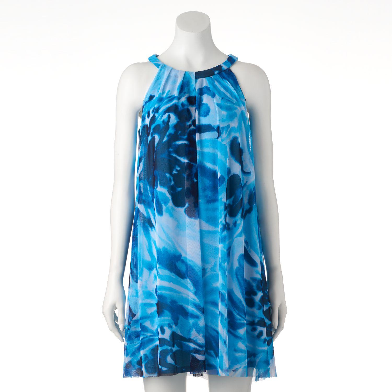 Womens Suite 7 Watercolor Halter Dress