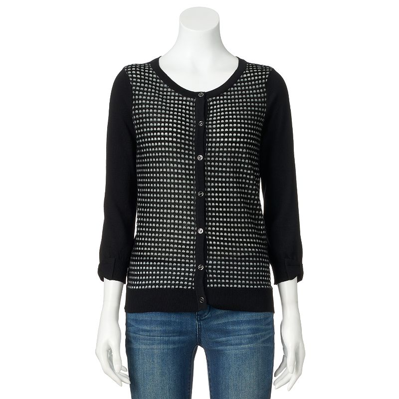 Women's ELLE™ Geometric Cardigan