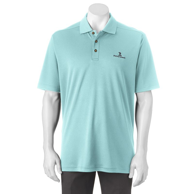 Men's Pebble Beach Classic-Fit Textured Performance Golf Polo