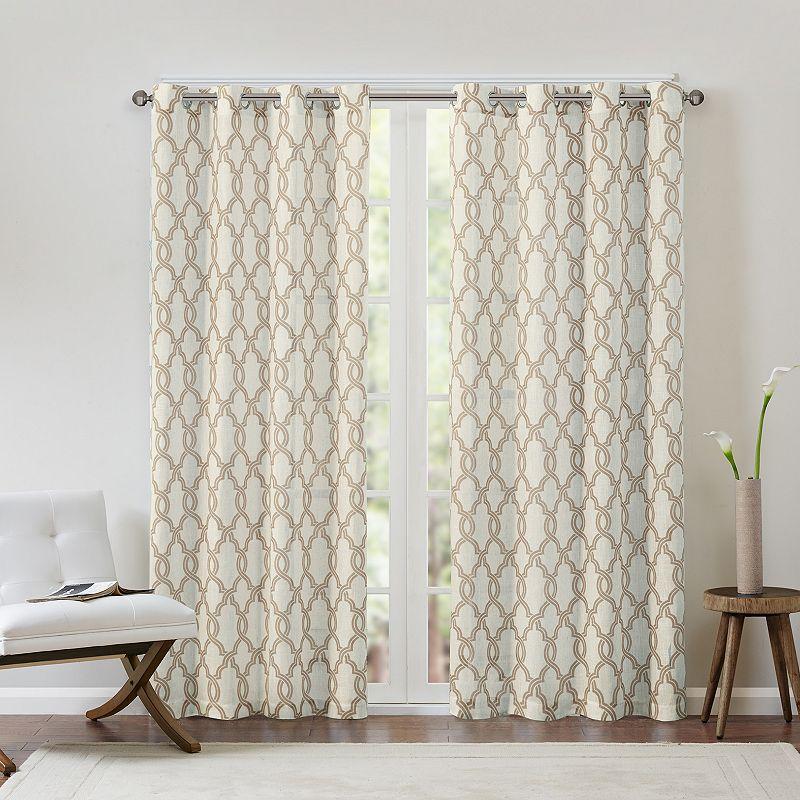 Madison Park Grant Textured Fretwork Curtain