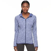 Women's Tek Gear® Marled Fleece Full-Zip Hoodie
