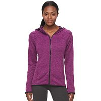 Women's Tek Gear® Marled Fleece Full-Zip Hoodie