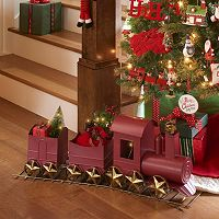St. Nicholas Square® Oversized Traditional Red Train Table Decor