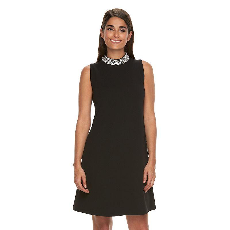 Women's Ronni Nicole Embellished Mockneck Shift Dress