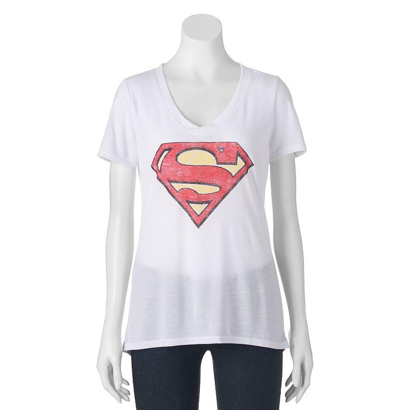 Juniors' DC Comics Superman High-Low Graphic Tee