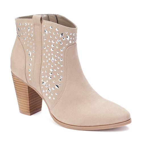 Jennifer Lopez Women's Studded Ankle Boots, Size: 5, Lt Beige