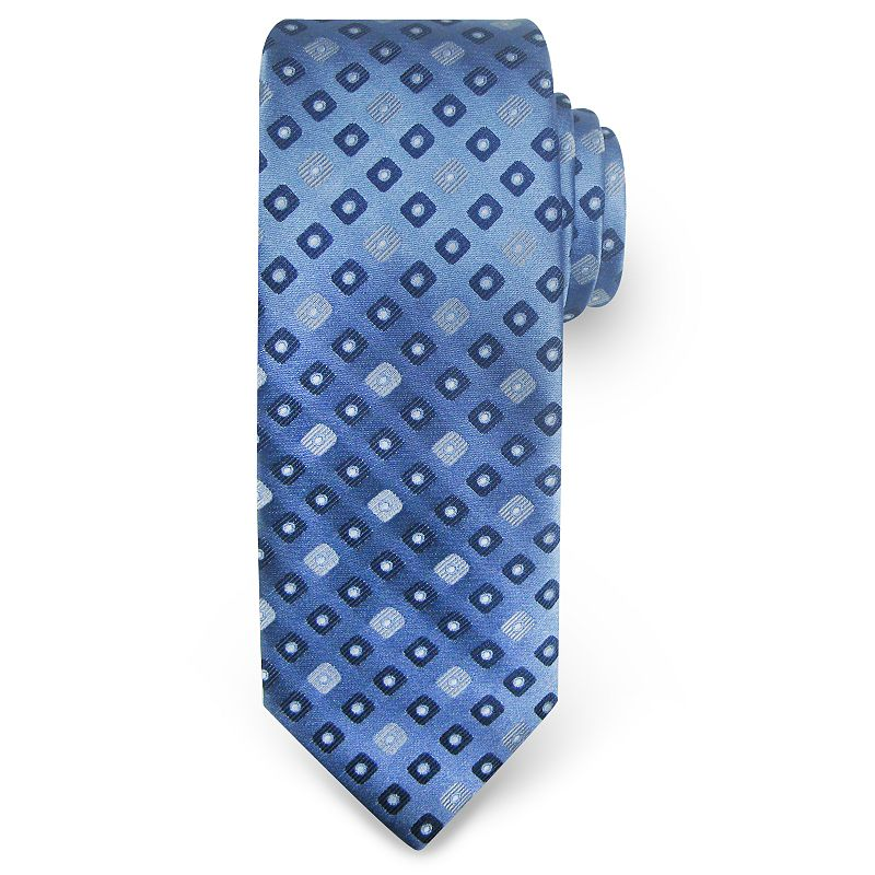 Big & Tall Haggar Extra-Long Geometric Neat Microfiber Tie