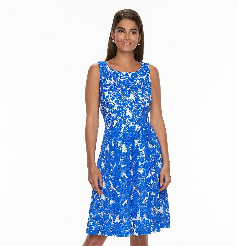 Women's Ronni Nicole Floral Lace Fit & Flare Dress
