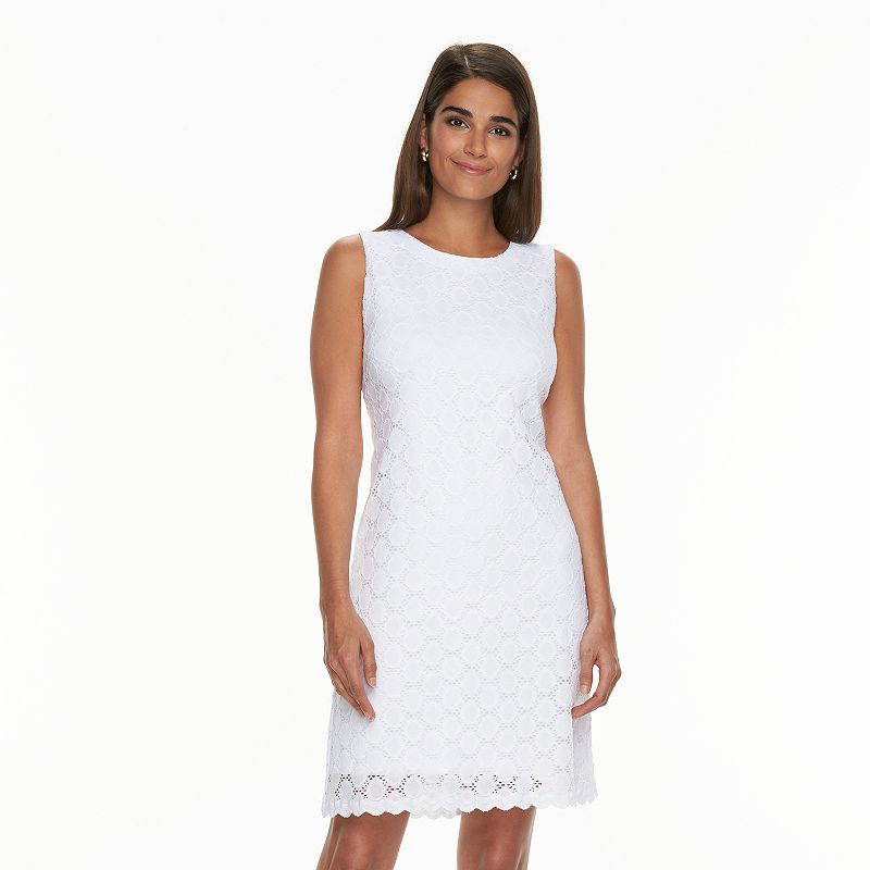 Women's Ronni Nicole Eyelet Circle Shift Dress