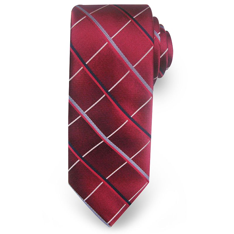 Big & Tall Haggar Extra-Long Grid Microfiber Tie