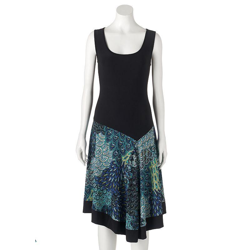 Women's MSK Peacock Shift Dress