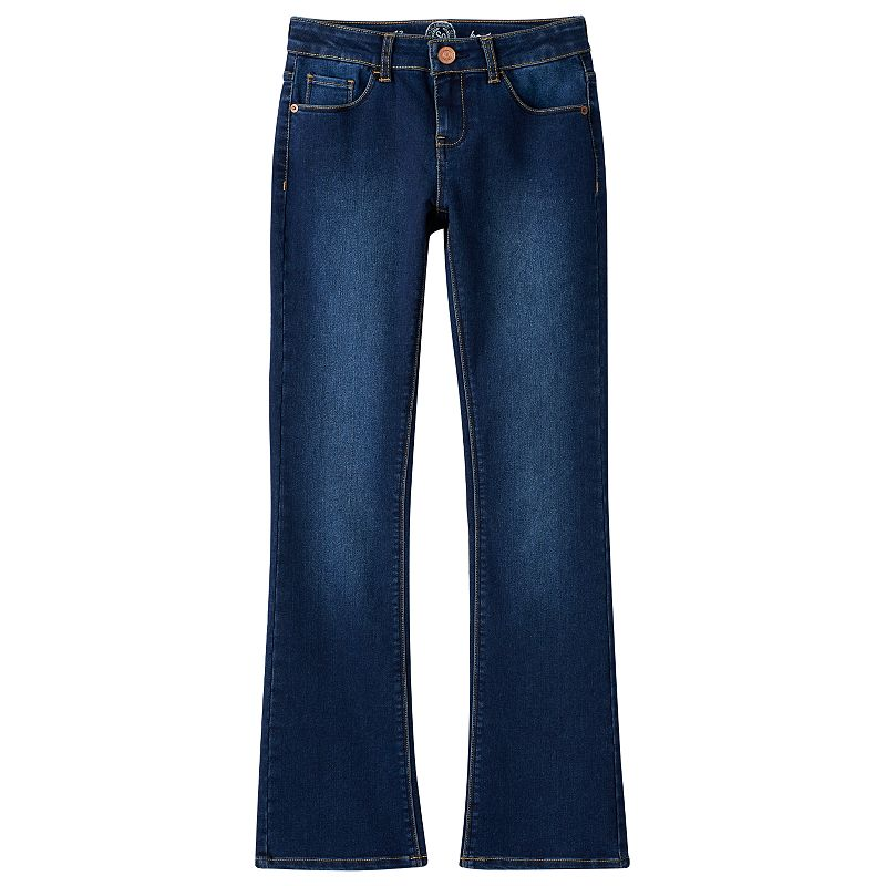Girls 7-16 & Plus Size SO® Embroidered Denim Bootcut Jeans