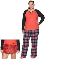 Juniors' Plus Size SO® Pajamas: 3-pc. PJ Gift Set