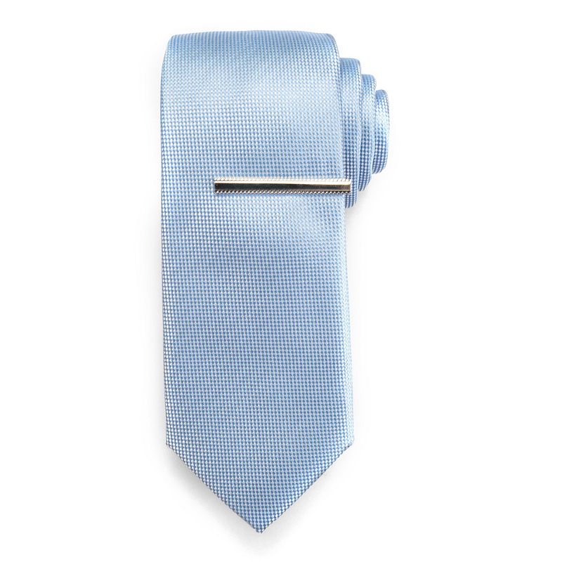 Men's Chaps Patterned Tie with Tie Bar