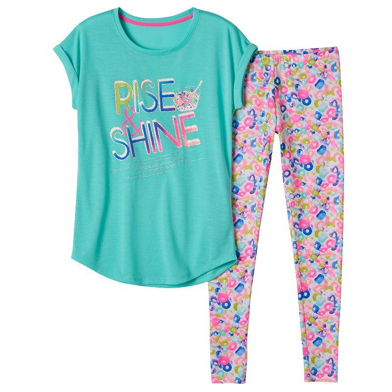 Girls 5-14 SO® Glitter Detail Pajama Set