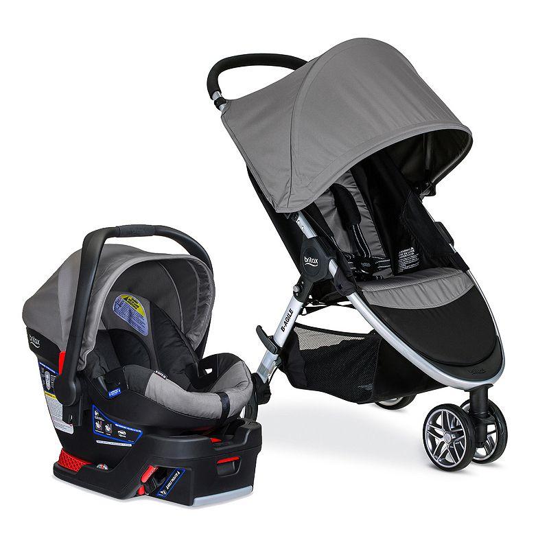 Britax 2016 B-Agile 3 Stroller & B-Safe 35 Infant Car Seat Travel System