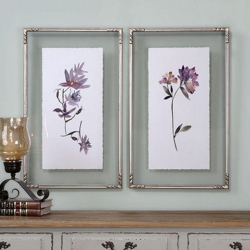 Floral Watercolors Framed Wall Art 2-piece Set