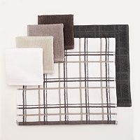 Food Network™ Bar Mop Plaid Dishcloth & Kitchen Towel Set