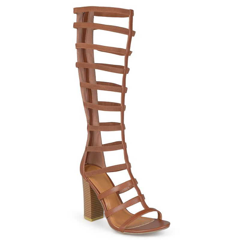 Journee Collection Kellin Women's High Heel Gladiator Sandals