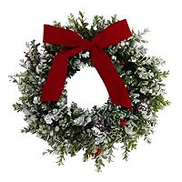 St. Nicholas Square® Faux Boxwood Wreath