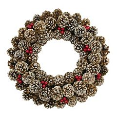 Click here to buy St. Nicholas Square Faux Pinecone Wreath.