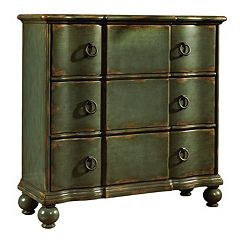 Ashford Dark Green Ring Pull 3-Drawer Hall Dresser by