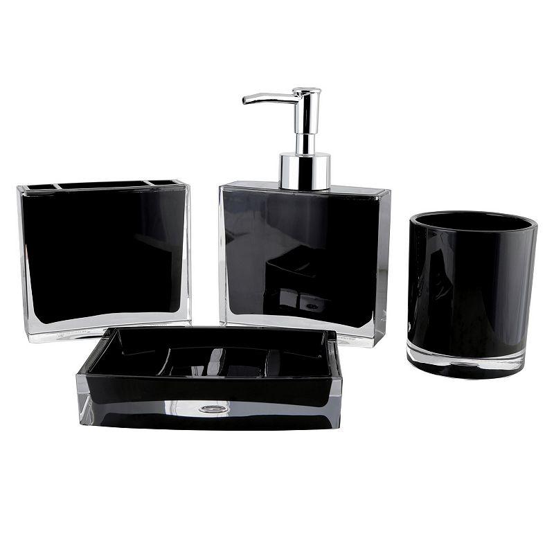 Contemporary 4-piece Bathroom Accessories Set