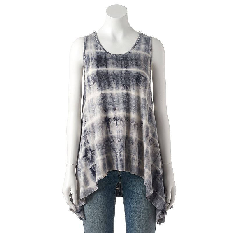 Women's Double Click Tie-Dye Stripe Tank