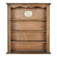 Sheffield Home Natural 4-Shelf Wall Cabinet