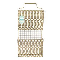 Sheffield Home Gold-Tone Letter Organizer Wall Decor