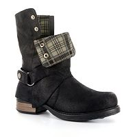 Corkys Roughout Women's Fold-Over Boots