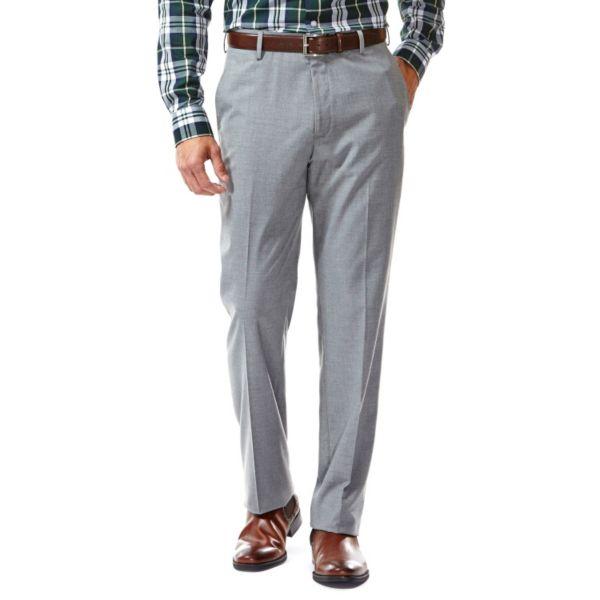 Men's Haggar® Straight-Fit Flat-Front Suit Pants