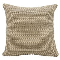 Joseph Abboud Basket Weave Leather Throw Pillow