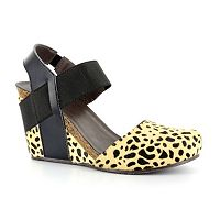 Corkys Timeout Women's Cheetah Print Wedge Heels