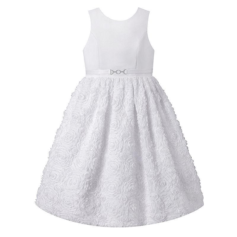 Girls 7-16 & Plus Size American Princess Floral Soutache Dress