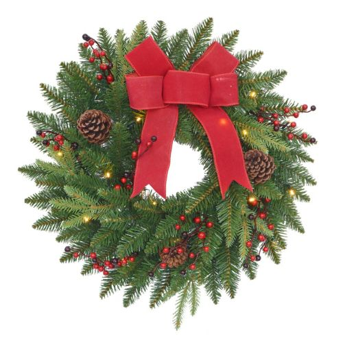 St. Nicholas Square® Indoor / Outdoor Lighted Wreath