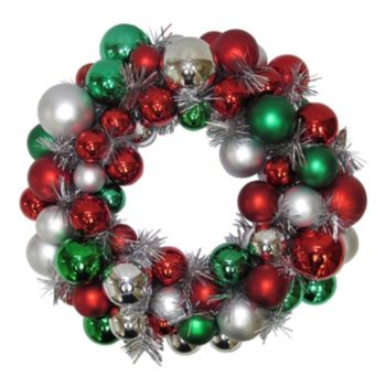 St. Nicholas Ornament Ball Wreath