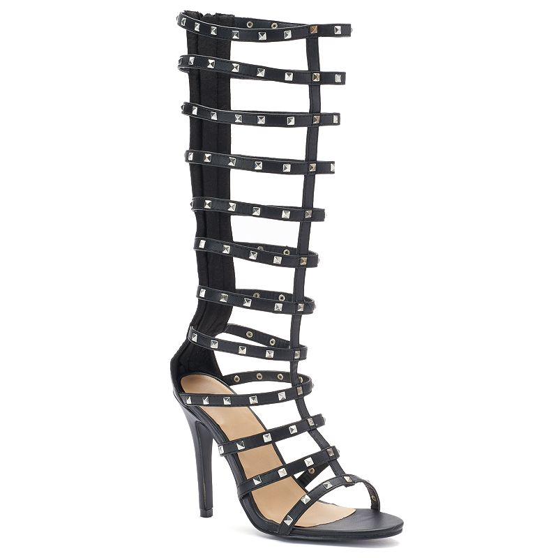 NYLA Zues Women's Knee High Gladiator Sandals