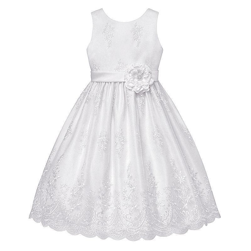 Girls 7-16 & Plus Size American Princess Scalloped Embellished Dress