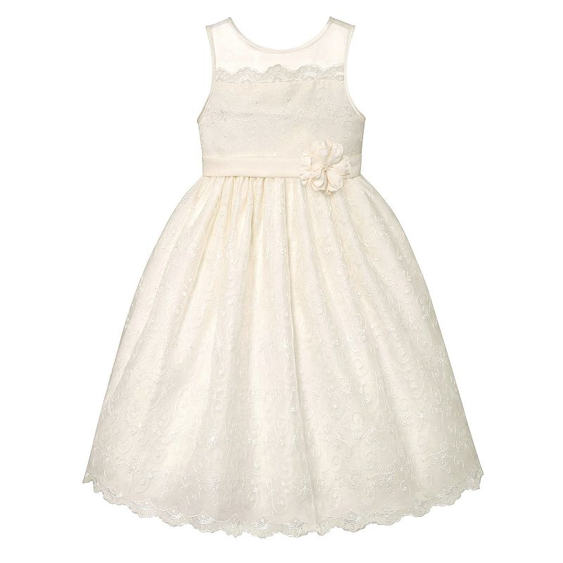 Girls 7-16 & Plus Size American Princess Lace Scalloped Dress