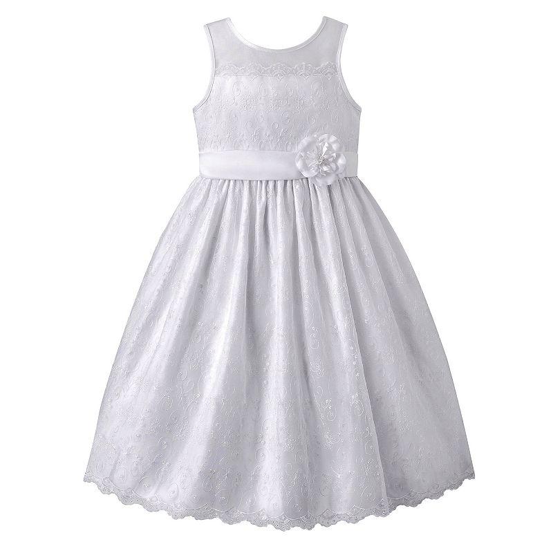 Girls 7-16 & Plus Size American Princess Lace Scalloped Dress