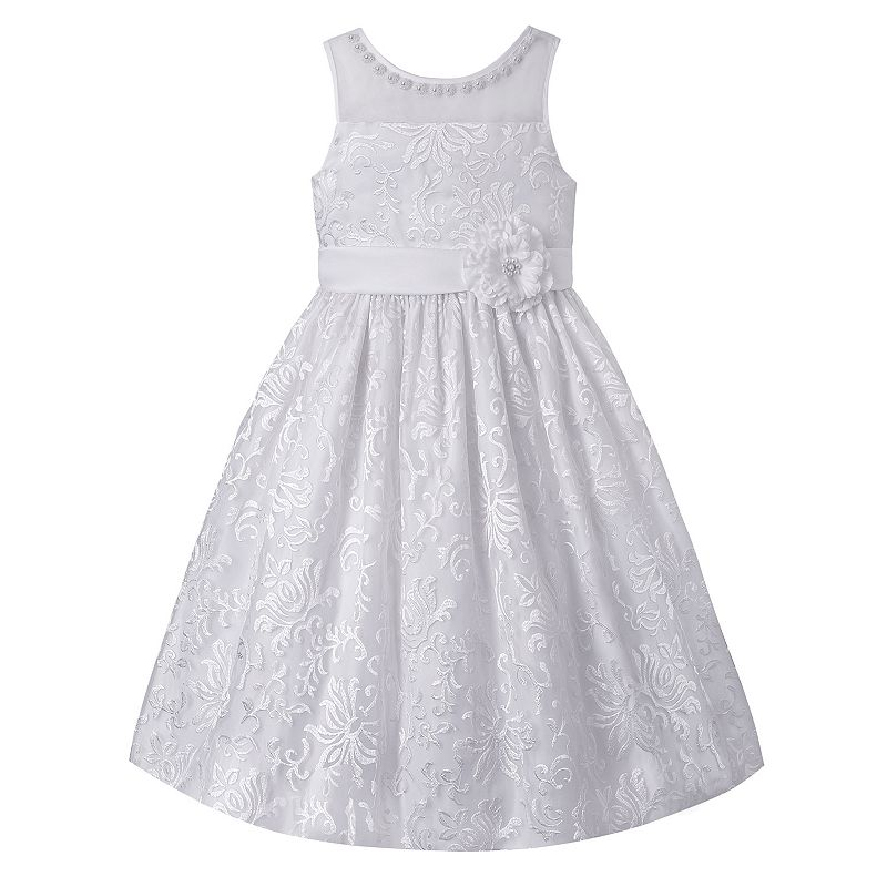 Girls 7-16 & Plus Size American Princess Beaded Floral Dress