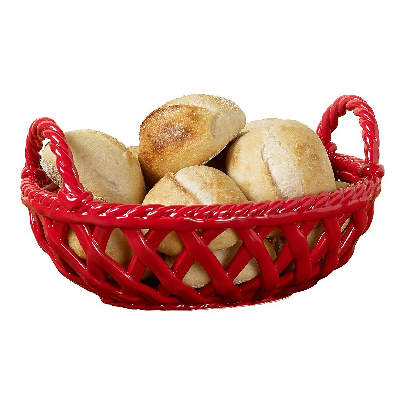 Gallery Oval Bread Basket with Handles