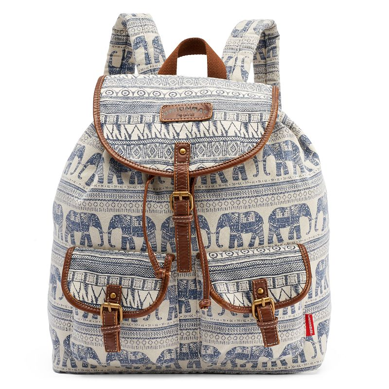 Unionbay 2 Cargo Pocket Elephant Tribal Backpack