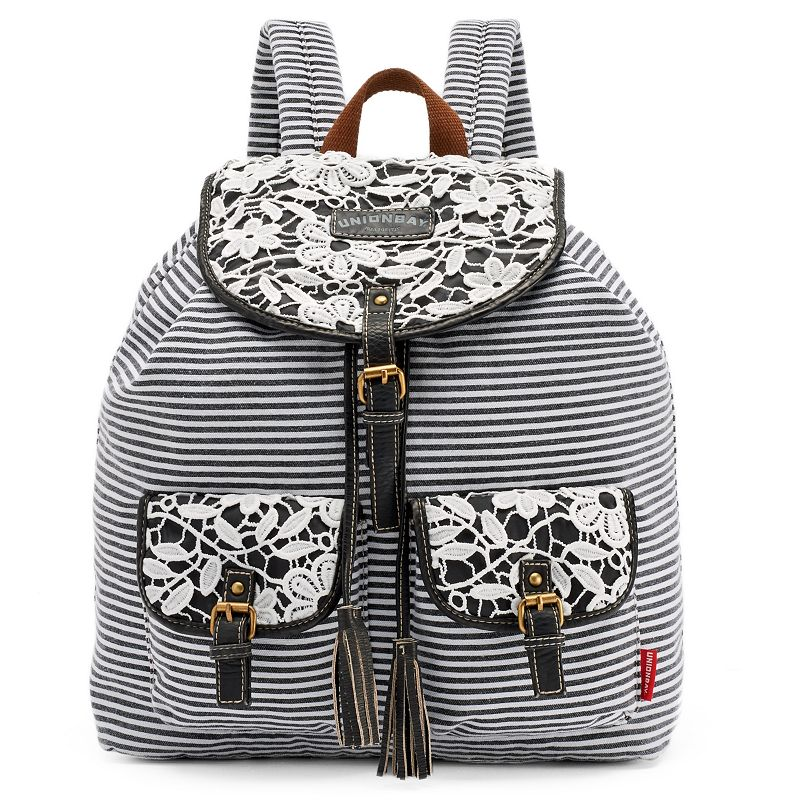 Unionbay Lace, Floral & Striped Backpack